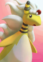 Mega Ampharos by aquabluu