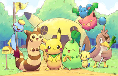 Pokemon Mystery Dungeon DX Groupshot