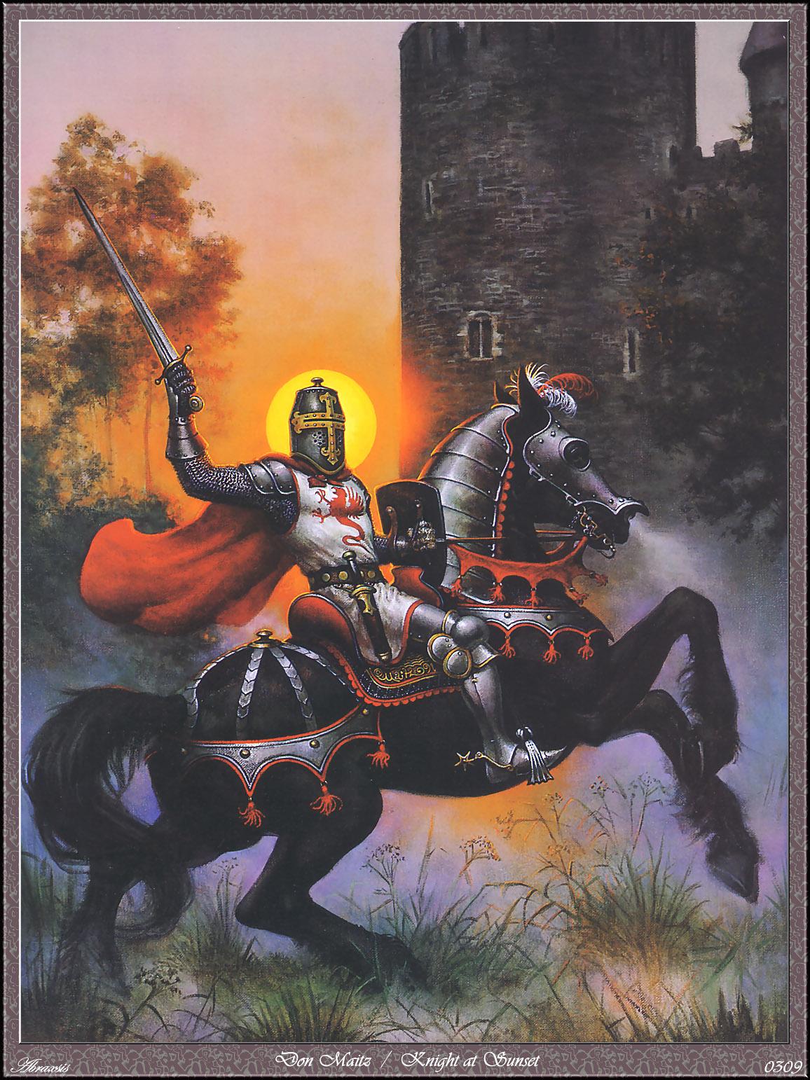 Don Maitz - Knight at Sunset by chavi-dragon