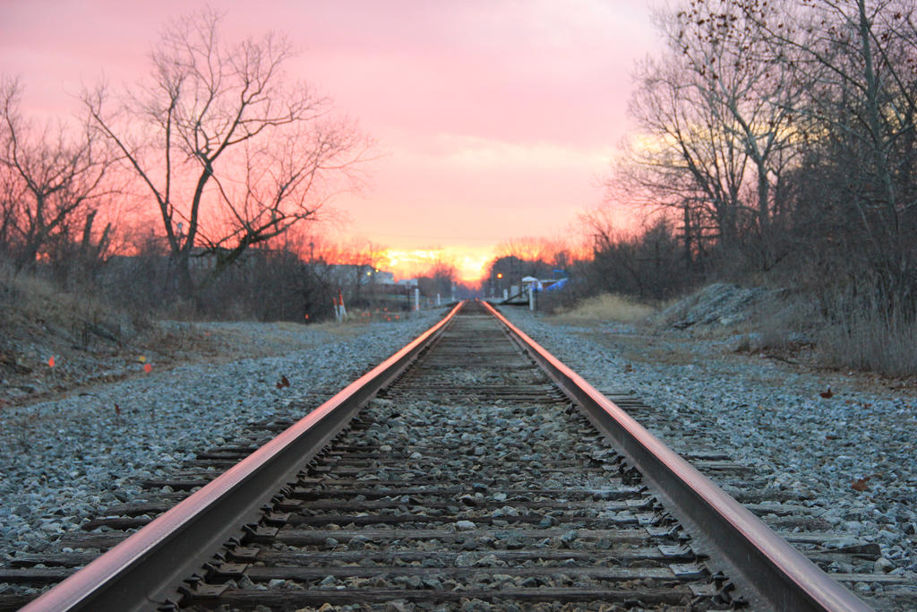 Railroad Sunset by DakotaBailey