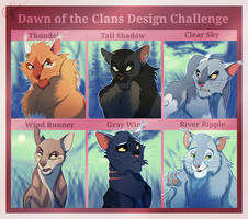Dawn of the Clans Design Challenge - Warriors Cats