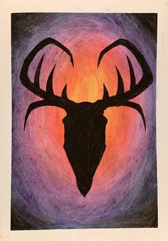 Skull Shadow {Oil Pastel}