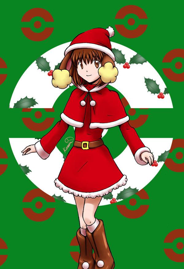 Christmas Buneary gijinka by poplarleaves