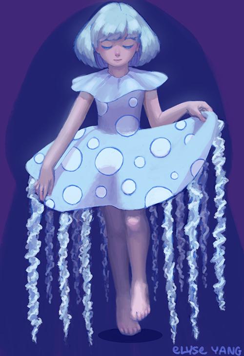 Jellyfish girl by poplarleaves
