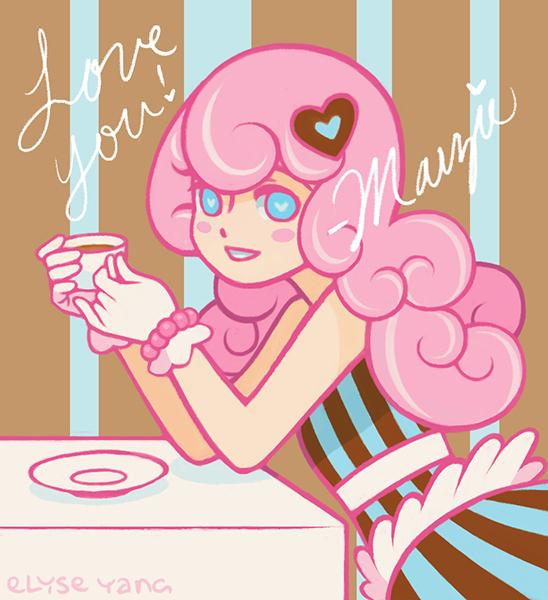 Marzie with tea by poplarleaves
