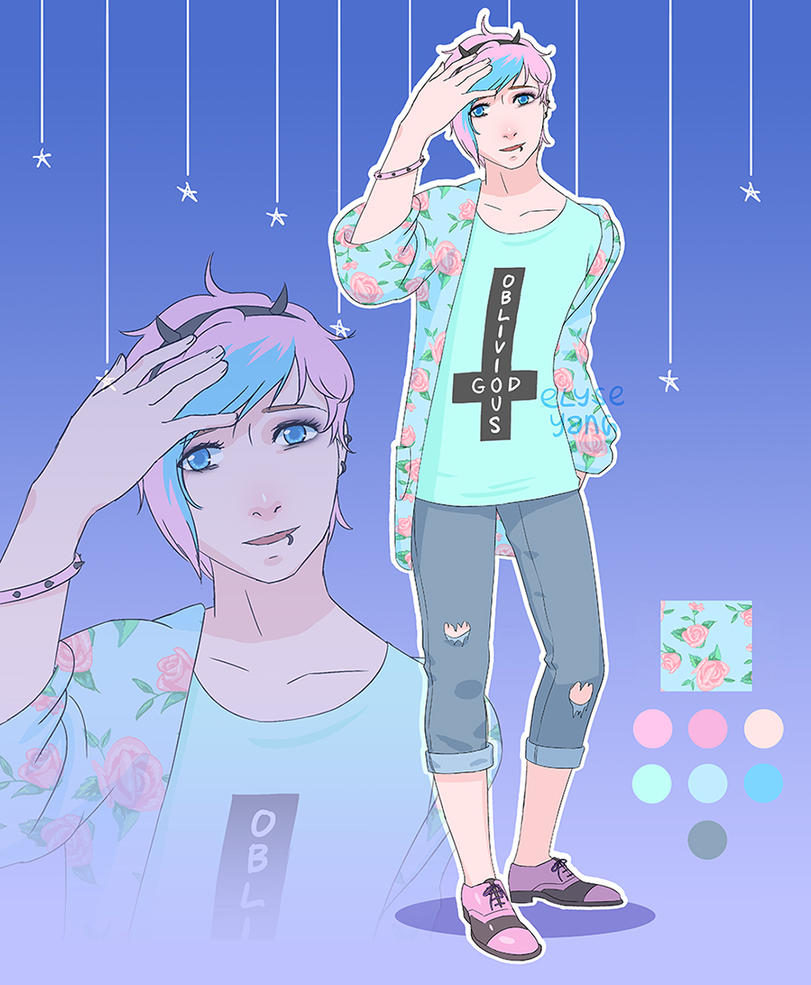 Pastel Goth Adopt: Cyril [OPEN - SALE!] by poplarleaves