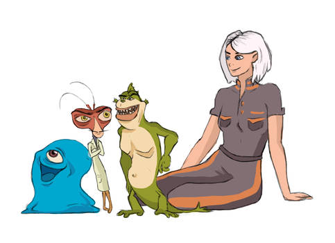 I Art Monsters vs Aliens