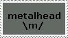 Metalhead stamp by Francyssa