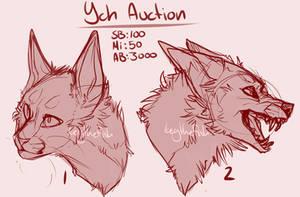 Canine n' Feline / Headshot YCH Auction *CLOSED* by Awkwardos