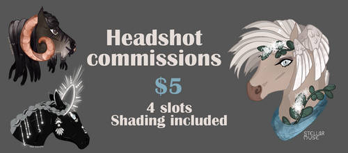 [CLOSED] Headshot commissions by stellar-muse