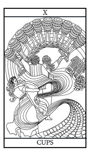 Cups Tarot Cards Coloring Pages - Clipart Library •