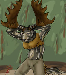 Moose Dancer by kayngi
