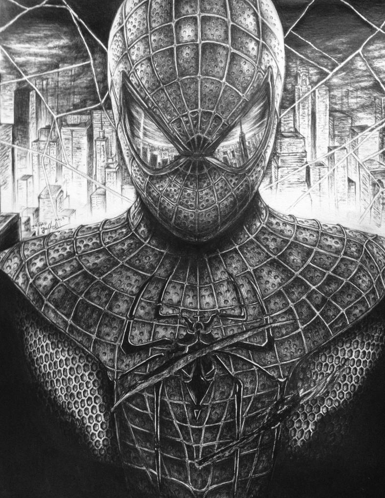 The Amazing Spiderman - Movie Poster Pen Drawing by ...