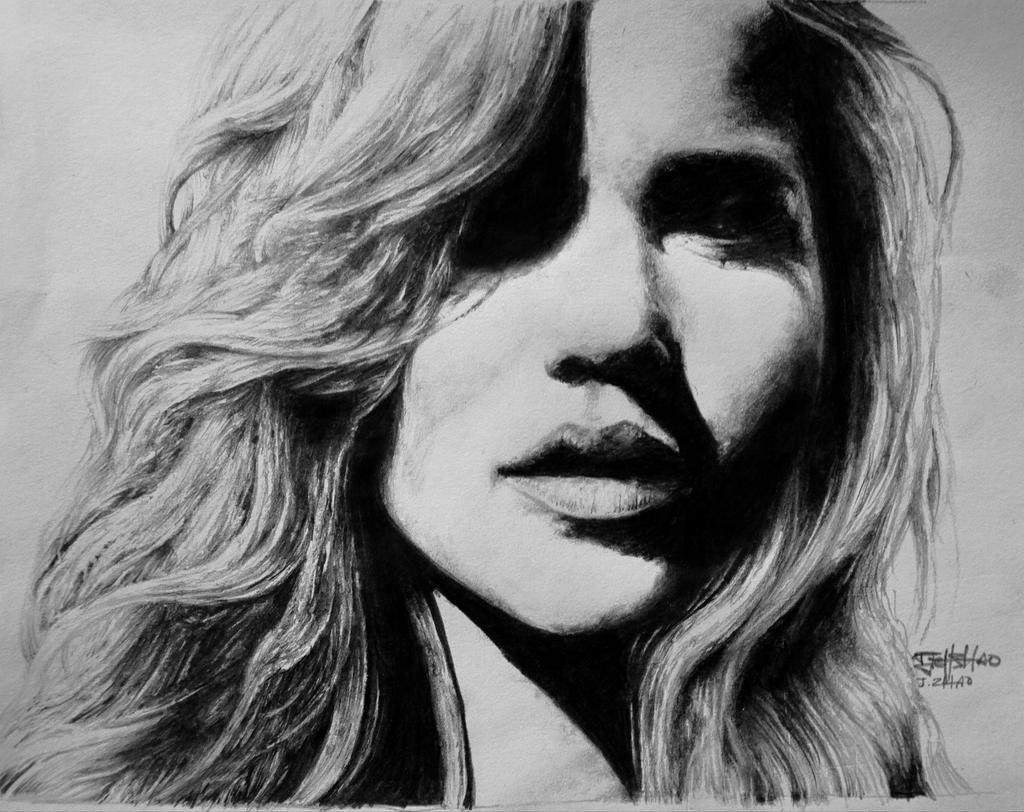 Jennifer Lawrence Graphite Portrait by inhibitus