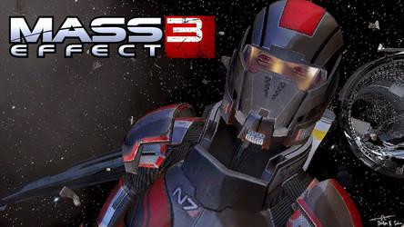 Mass Effect 3 Shepard by Haruka-Sei