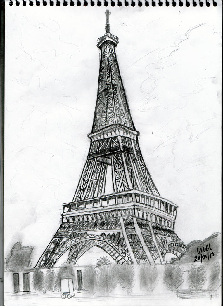 Eiffel tower drawing by lizelsequerra on deviantart eiffel tower drawing by lizelsequerra thecheapjerseys Gallery
