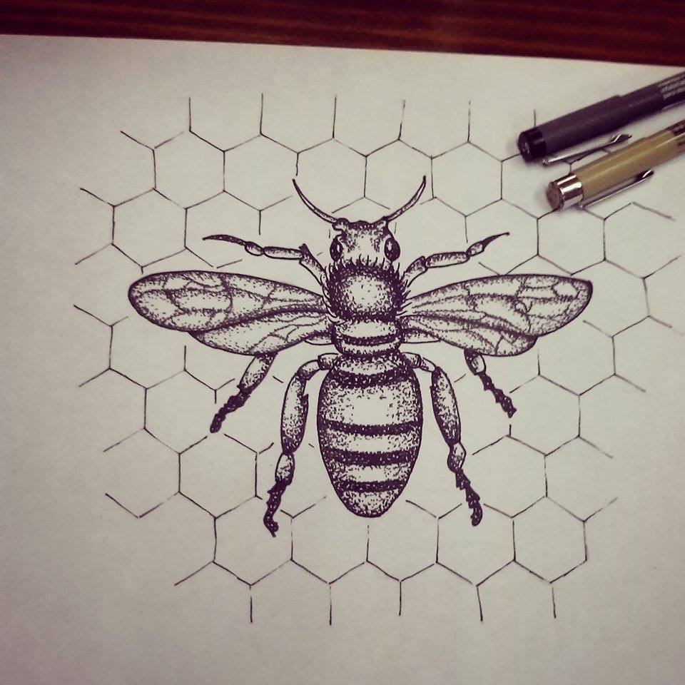 bee dotwork by wesche on deviantart. Black Bedroom Furniture Sets. Home Design Ideas