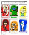 (FanArt) My Six Characters Challenge