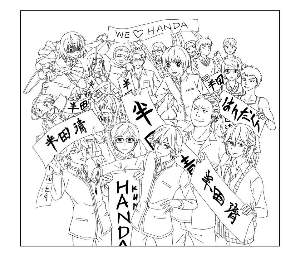 Handa-kun WIP by Eunice-P