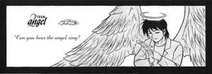 Teen Angel - OLD drawing by Eunice-P