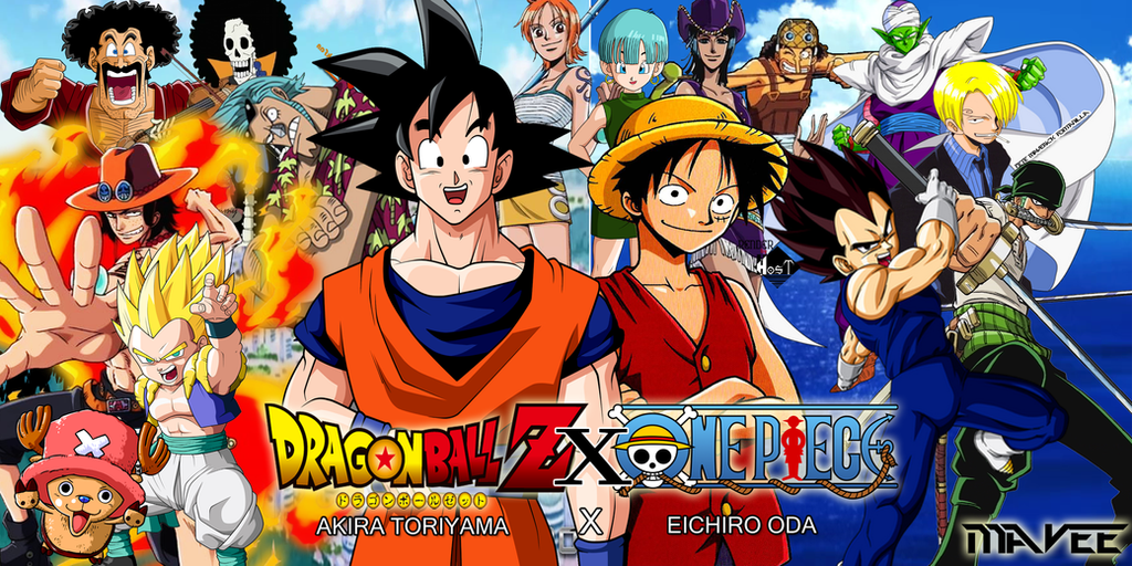Dragon ball z x one piece crossovers supermavee by supermavee on deviantart - Dbz one piece ...
