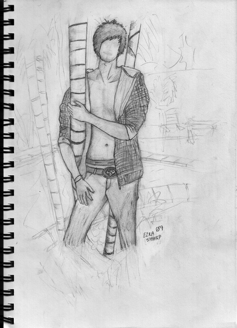 Boy with Palm Tree by Nicekiwi