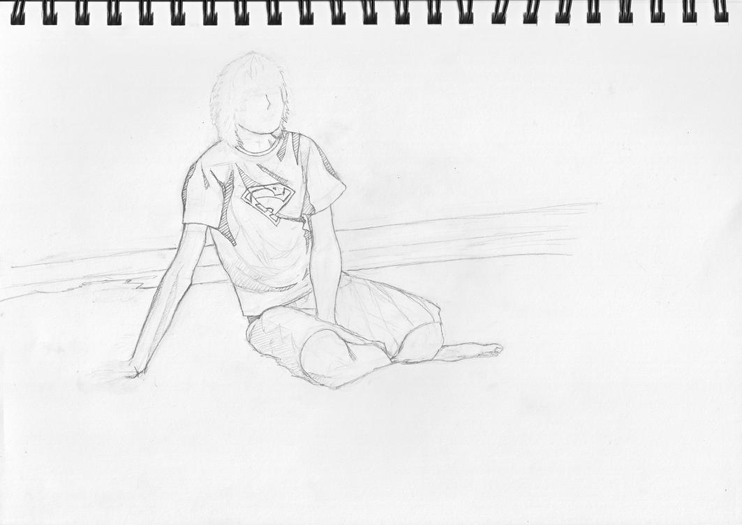 Boy at the beach. by Nicekiwi