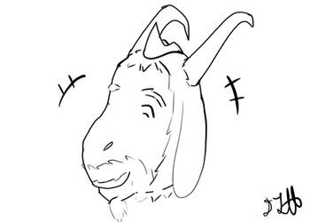 Inktober 5 Asgore uncolored by Cynder3601