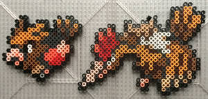 #021-#022 Spearow and Fearow Perlers