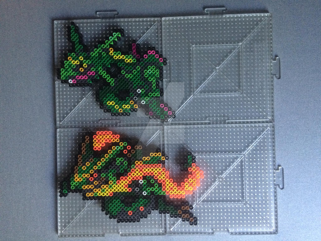 #384 Rayquaza Perler by TehMorrison