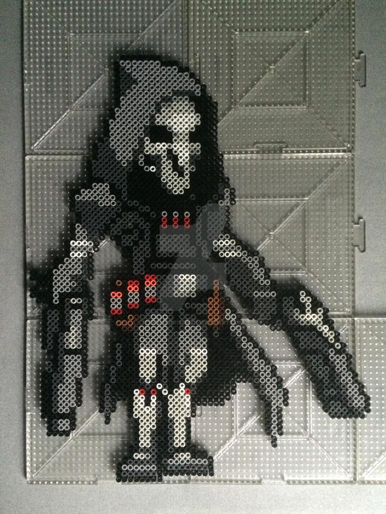 Overwatch Reaper Perler by TehMorrison
