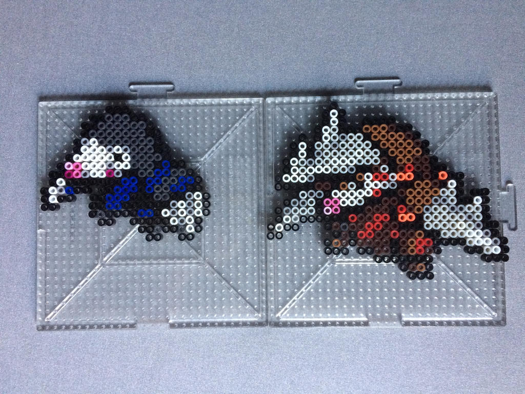 #529-#530 Drilbur and Excadrill Perlers by TehMorrison