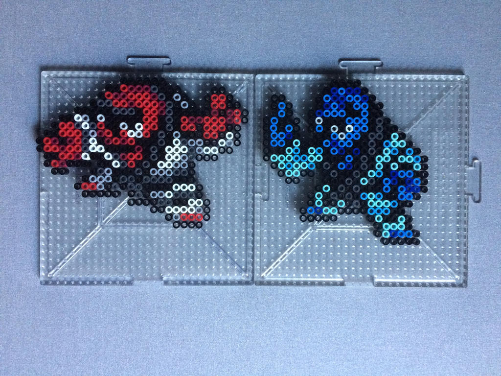 #538-#539 Throh and Sawk Perlers by TehMorrison