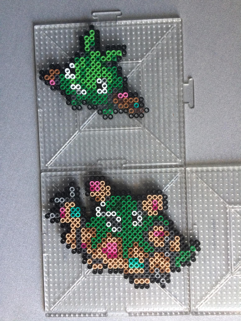 #568-#569 Trubbish and Garbodor Perlers by TehMorrison