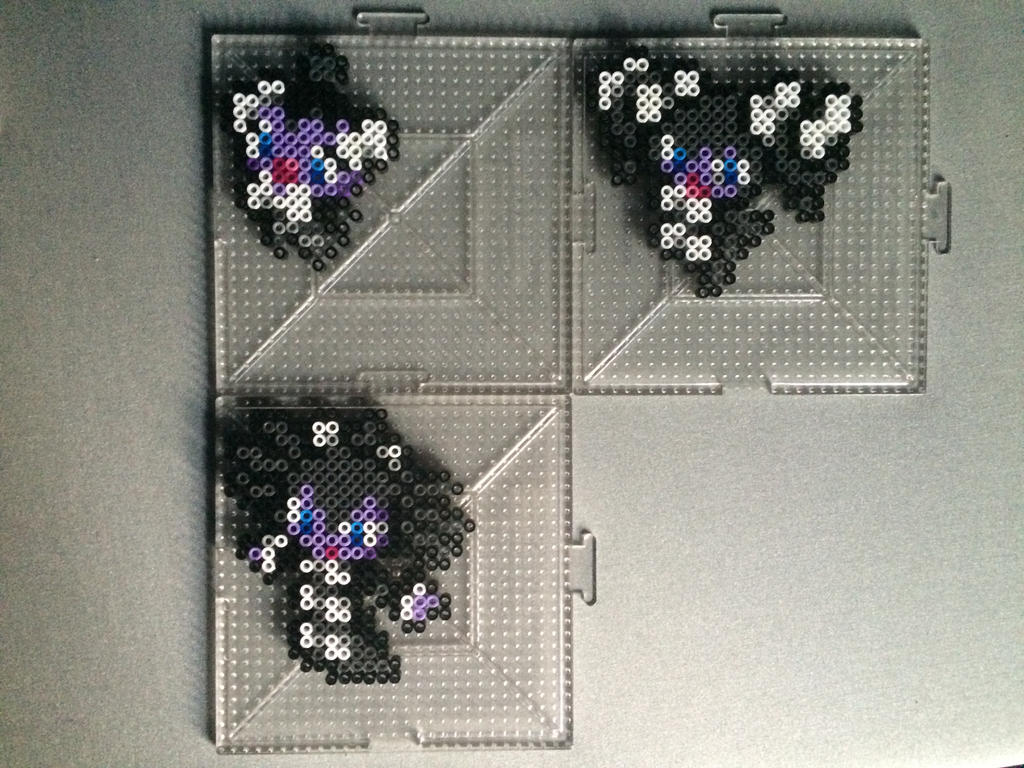 #574-#576 Gothita Family Perlers by TehMorrison