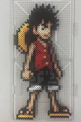 Luffy Second Gear Perler by TehMorrison