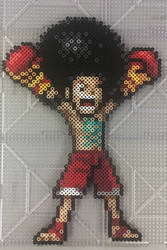 Davy Back Fight Afro Luffy by TehMorrison