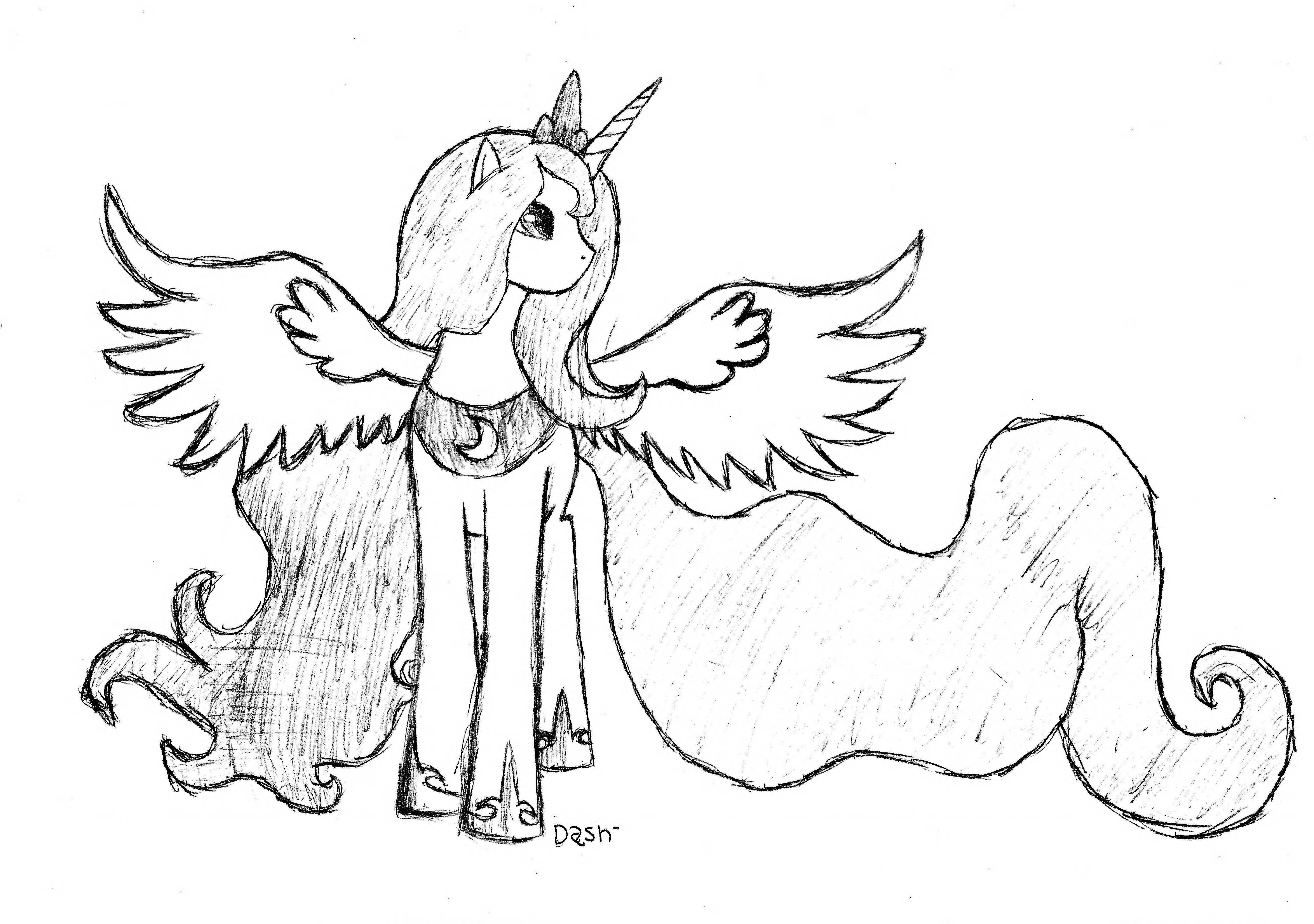Princess luna by dash1e on deviantart for Princess luna coloring pages