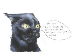 9/285 killer cat by IamDeathskull