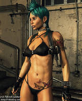 Post-apocalyptic punk girl by Dendory