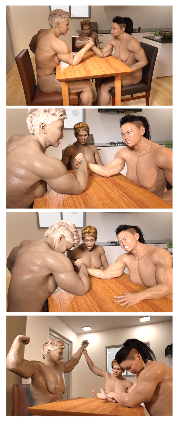 Arm Wrestling Tetraptych - A Galling Defeat by LiteroticaKatie
