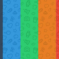 Seamless Icon Patterns by righteouBrother