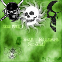 Skull Brushes for GIMP by righteouBrother