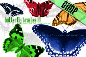 Gimp Butterfly Brushes by righteouBrother