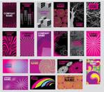 Purple Abstract Design Vector Clip Card