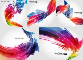 Shine Abstract Background Vector Visual by righteouBrother