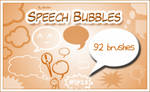 Speech bubbles brushes
