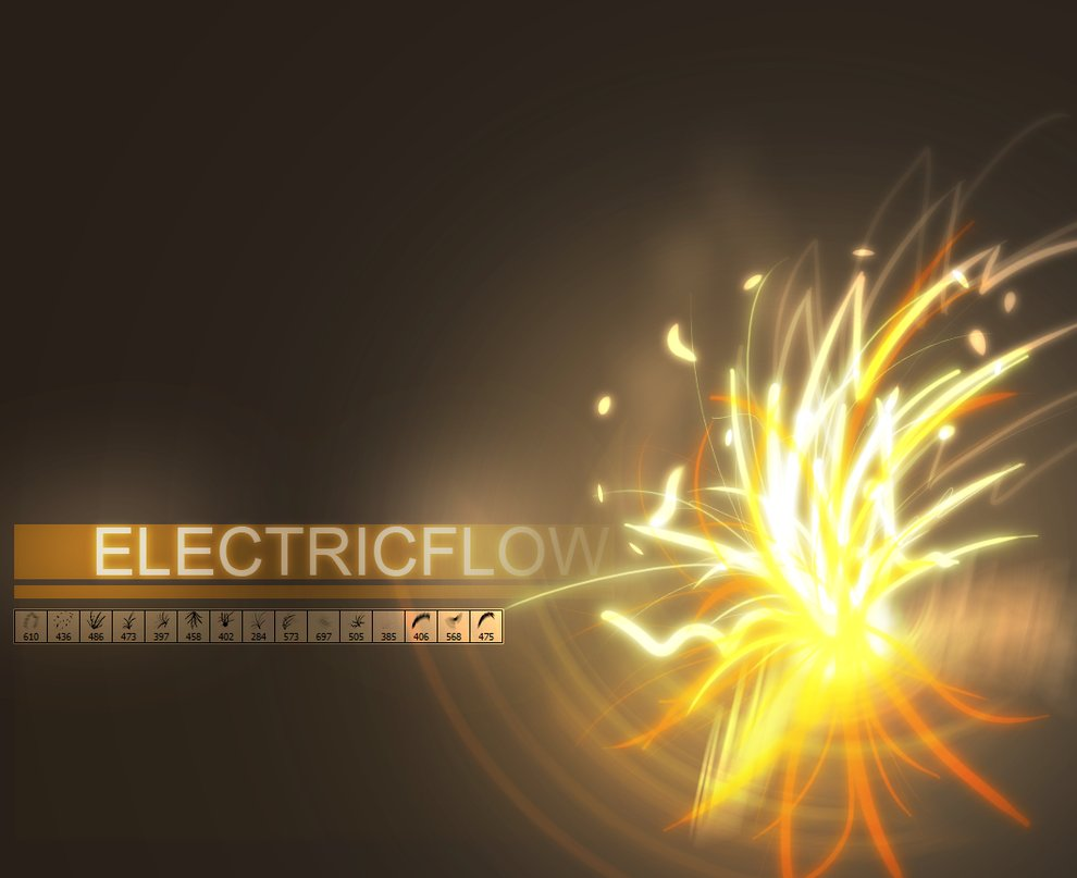 Electric Flow brushes photoshop by righteouBrother