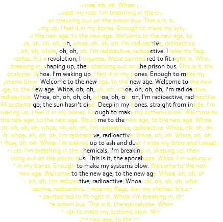 Radioactive Lyrics Sign by Novelwrite on DeviantArt