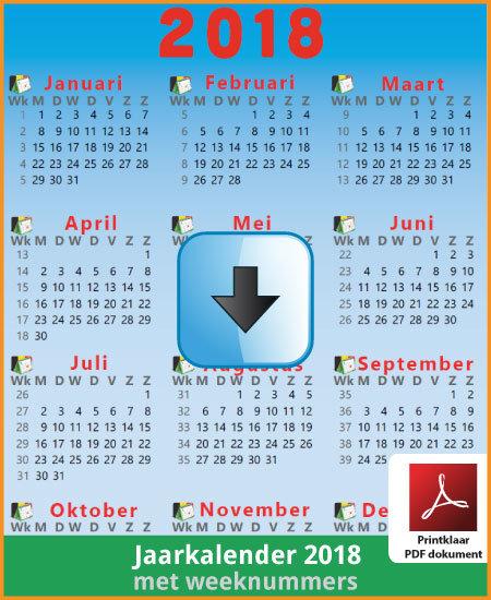 jaarkalender-2018-weeknummers-preview-01feestbelgie on deviantart
